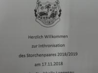 2018-11-17 Besuch bei der Inthronisation des UECV
